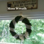 Easy DIY Moss and Burlap Wreath