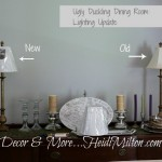 Ugly Duckling Dining Room {Blogging Without Borders}: Lighting