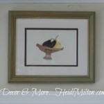 A Home for the Watercolors {Thrift Store Frames}