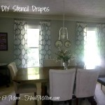 DIY stencil drapes Royal Design Studio