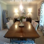 dining room lights DIY