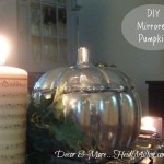 DIY Mirrored Pumpkin {Neutral Fall Table Details}