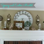 Spring/Easter Mantel (the Full Monty)