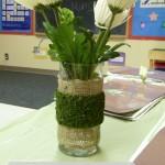 DIY Burlap Moss Vases {a Dollar Store Project}