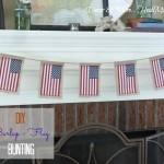 DIY Burlap Flag Bunting