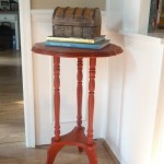 Emperor's Silk Accent Table Makeover
