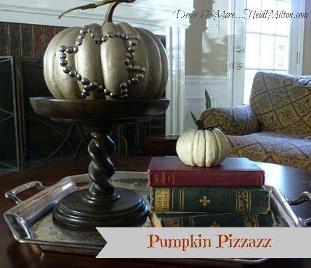 DIY Nailhead Pumpkin