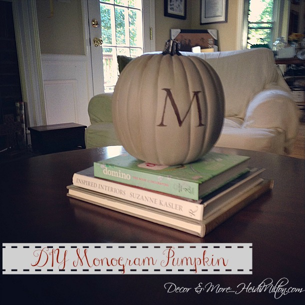 DIY Monogram Pumpkin
