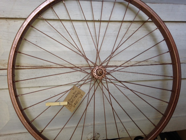 bicycle wheel photo display