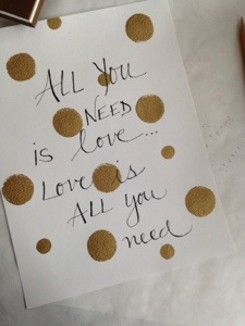 gold dot typography