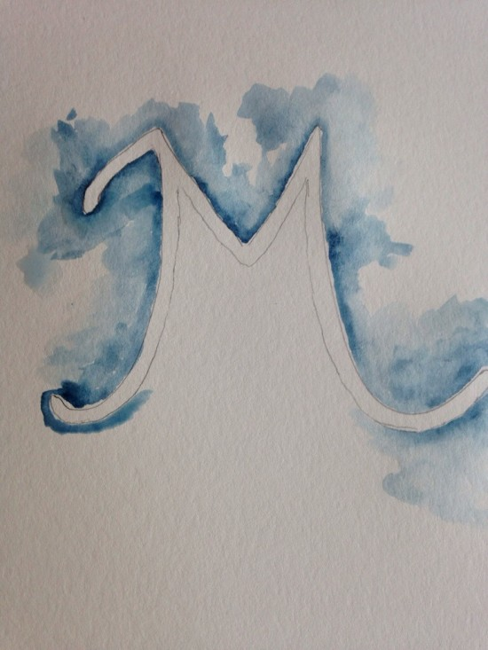 watercolor M