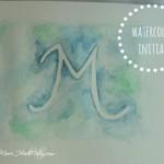 DIY watercolor initial