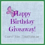 21 Things I Love and a Happy Birthday/Blogiversary GIVEAWAY!!