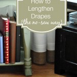 How to Lengthen Drapes {the No Sew Way}
