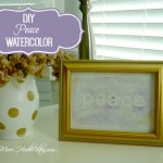 DIY Peace Watercolor