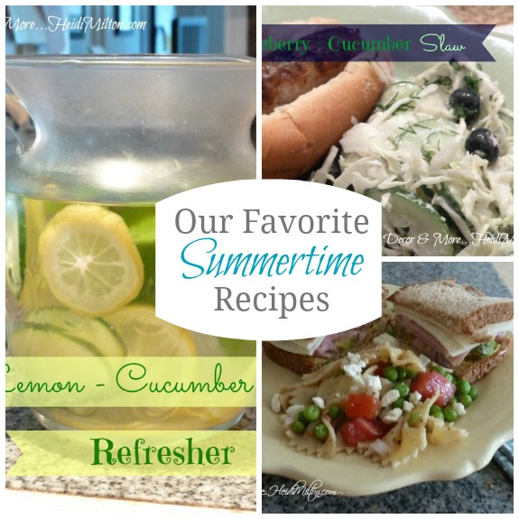 summertime recipe collage