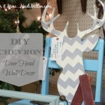 DIY Chevron Deer Head Wall Decor