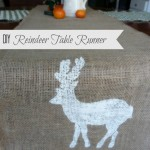 DIY Reindeer Table Runner