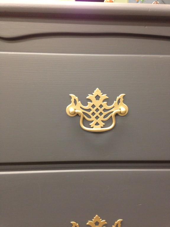 Indigo dresser detail