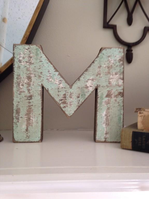 distressed M