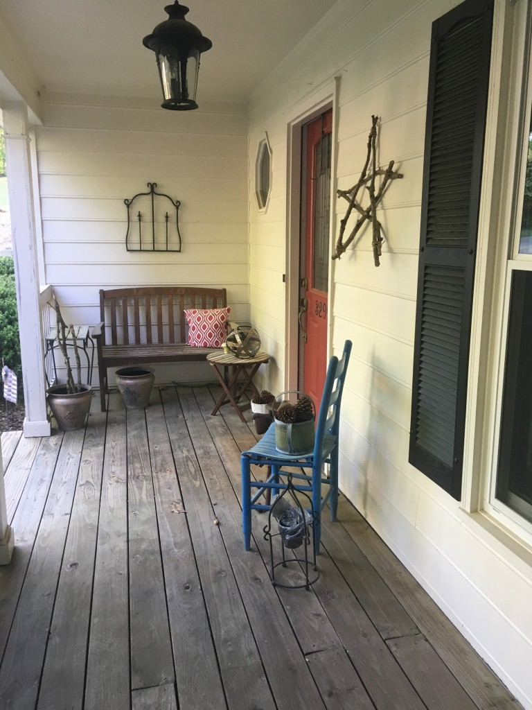 my porch before
