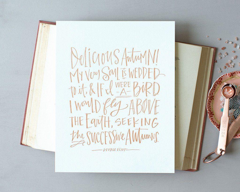 Lindsay Letters Delicious Autumn Print