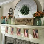 early fall mantel