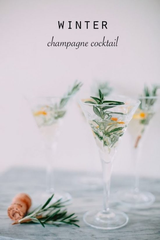 CHampagne Cocktails, New years Eve
