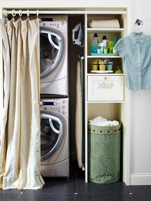 hallway laundry rooms