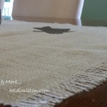 burlap stencil table runner