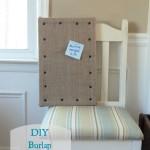 DIY burlap corkboard
