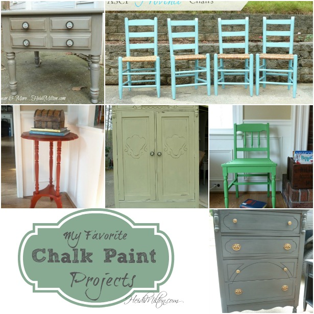 Heidi Milton chalk paint projects