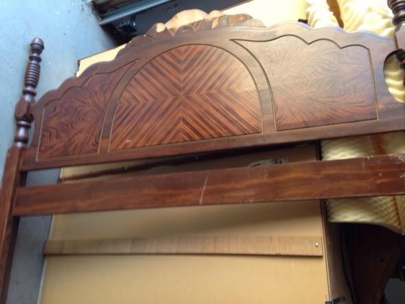 vintage bed before