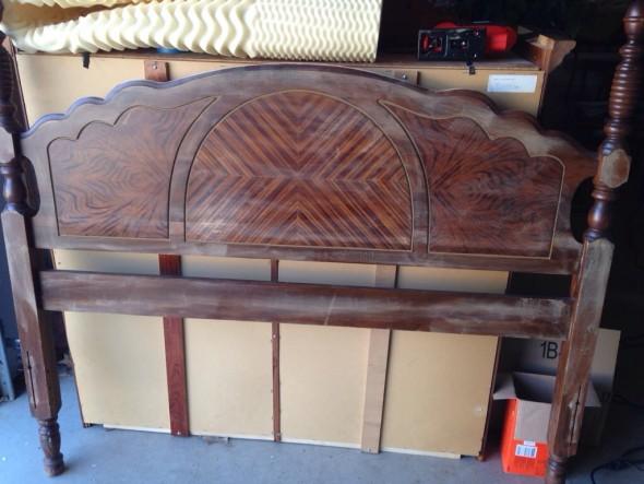 headboard sanded