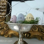 DIY chalk paint eggs