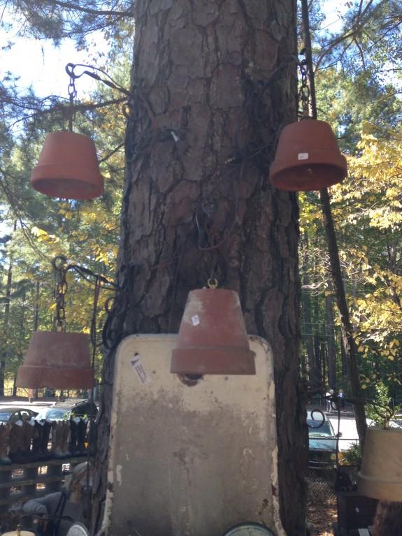 Outdoor clay pot lights