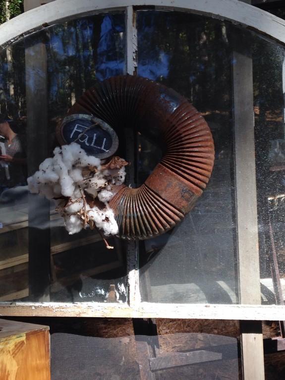 Rusty hose wreath