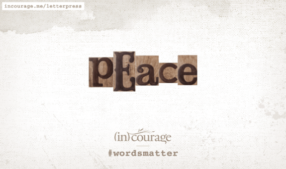letterpress peace