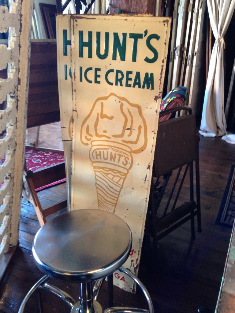 hunts ice cream signs