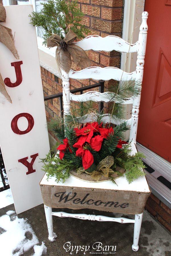 porch- chair and joy sign