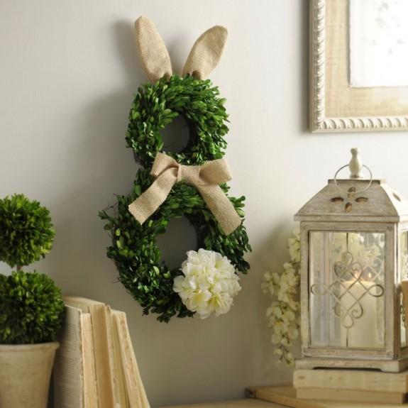 spring - boxwood bunny