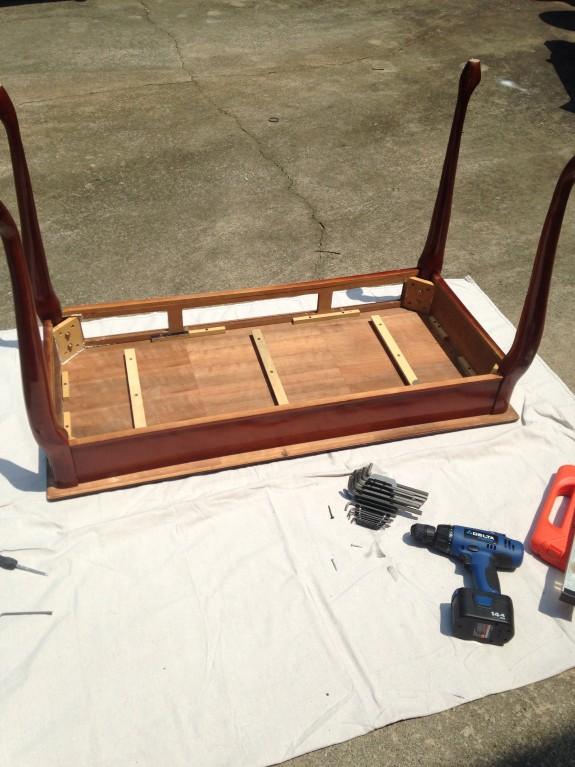 Weather stone desk repair