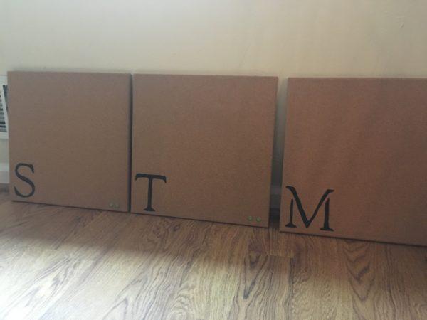 monogrammed corkboards