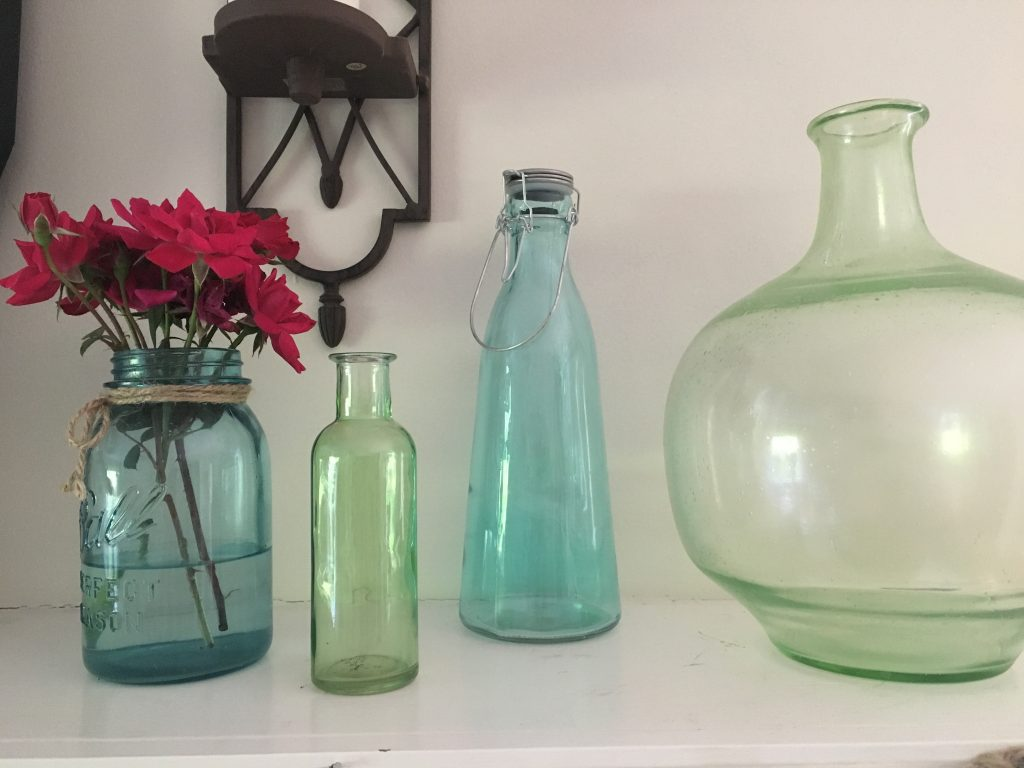 blue green glass