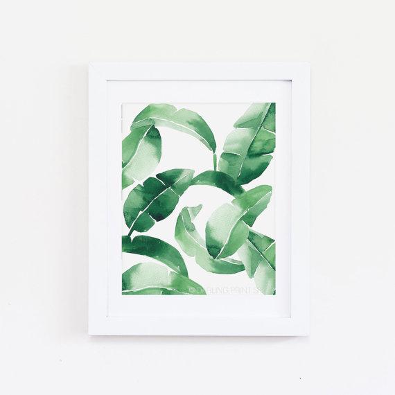 palm print - watercolor