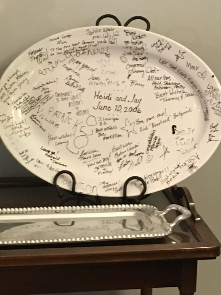 wedding day platter