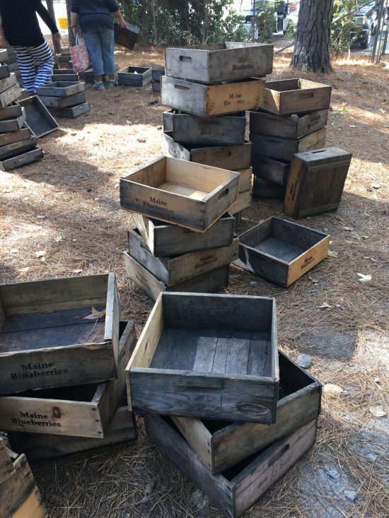 Country Living Fair crates