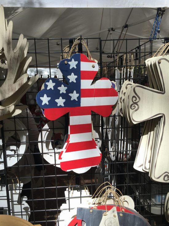 Country Living Fair cross door hanger