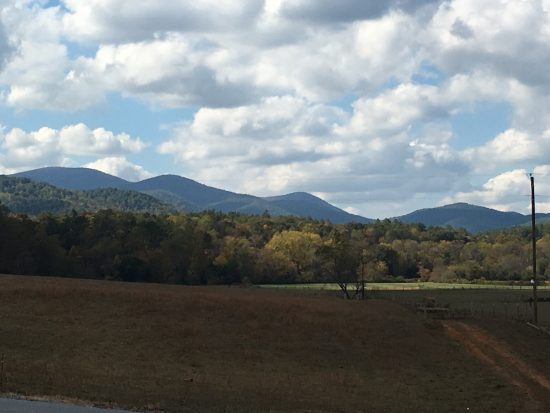 Blue RIdge view from van Zandts