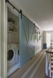 hallway laundry room